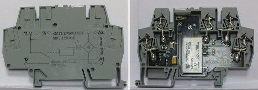 Электромеханические реле с обмоткой на 220В переменного тока типа MRL.220.01C