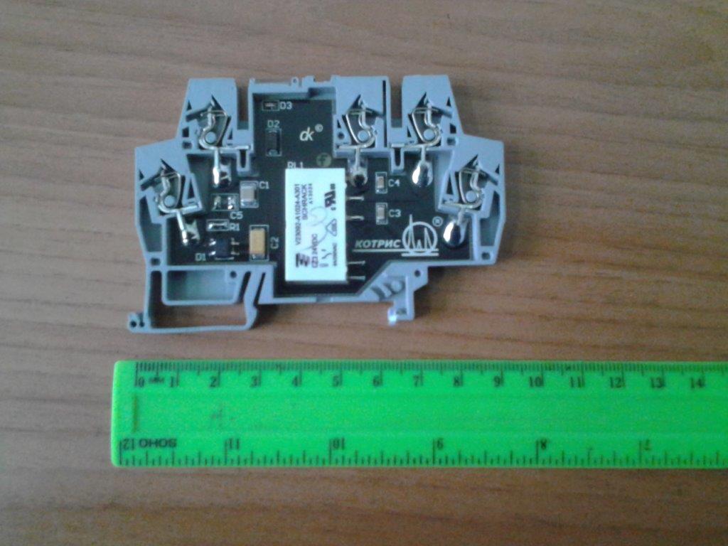 Реле электромеханическое 24VDC и 220VAC